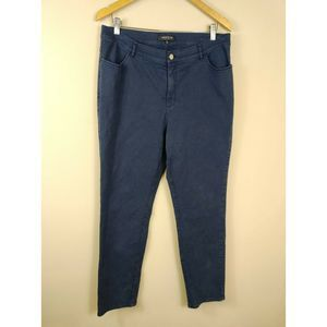 Lafayette 148  Five Pocket Blue Straight Pant